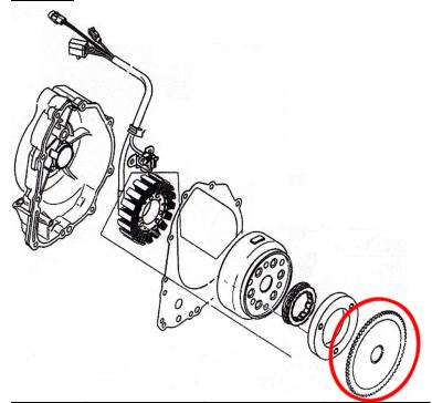 电动起动离合器齿轮