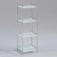 Fastener-free 4-tier Glass Rack