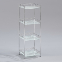Fastener-free 4-tier Glass Rack