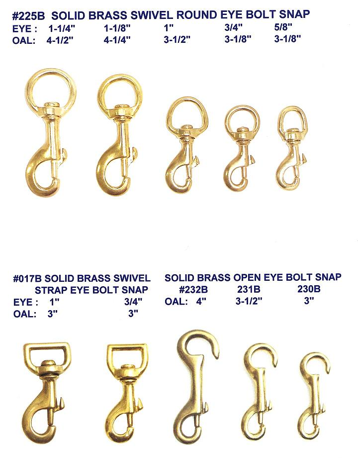 SOLID BRASS SNAPS