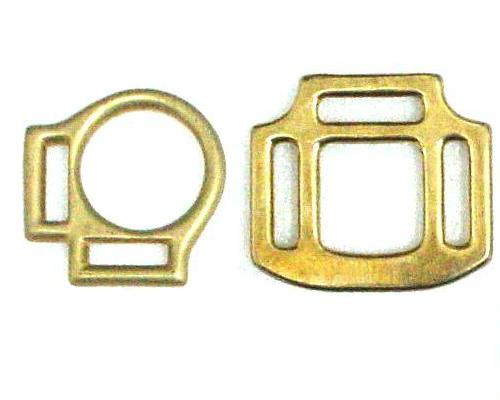 SOLID BRASS HALTER SQUARE