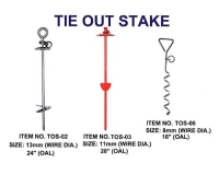 TIE OUT STAKE