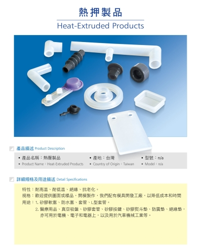 Heat-Extruded Products