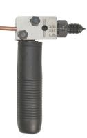 Visible brake pipe flaring tool