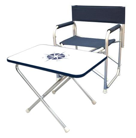 Ultra-light aluminum alloy folding picnic table & chair set