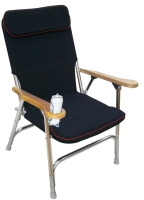 Aluminum alloy folding armrest chair