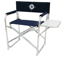 Folding deck chair desk