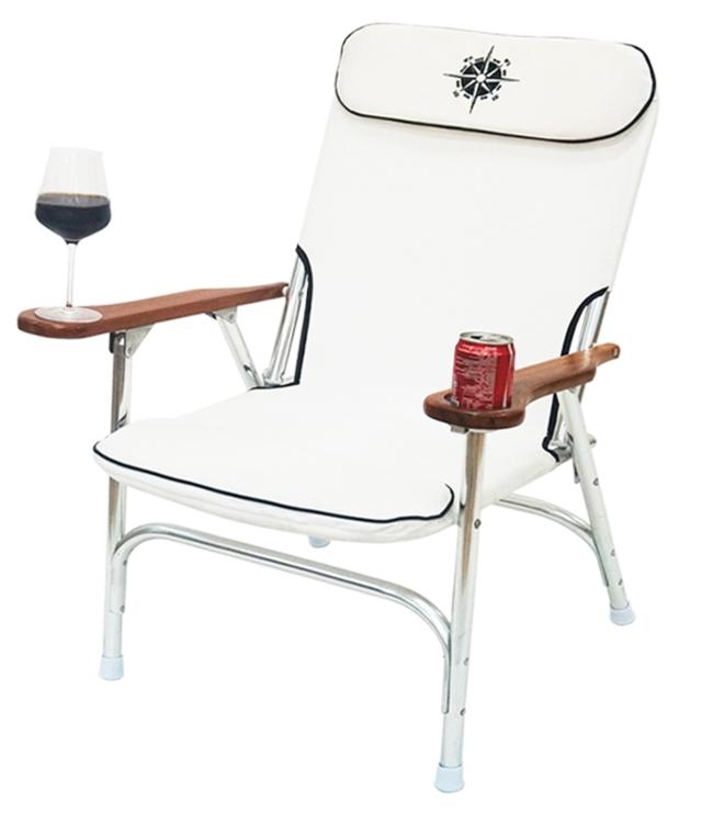 Folding alum deck chair