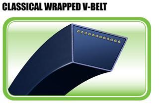 Classical wrapped v belt
