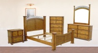Wood Beds, Commode / 5-Drawer Chests, Vanities / Dressers / Dressing Tables, Mirrors