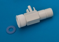 """T-joint(with 3/4"""" male & female threads) + 1/4"""" quick adaptor)"""