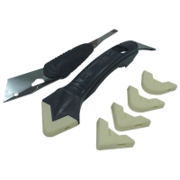 Silicone Trowel & Scraper Set with Stainless-steel Blade
