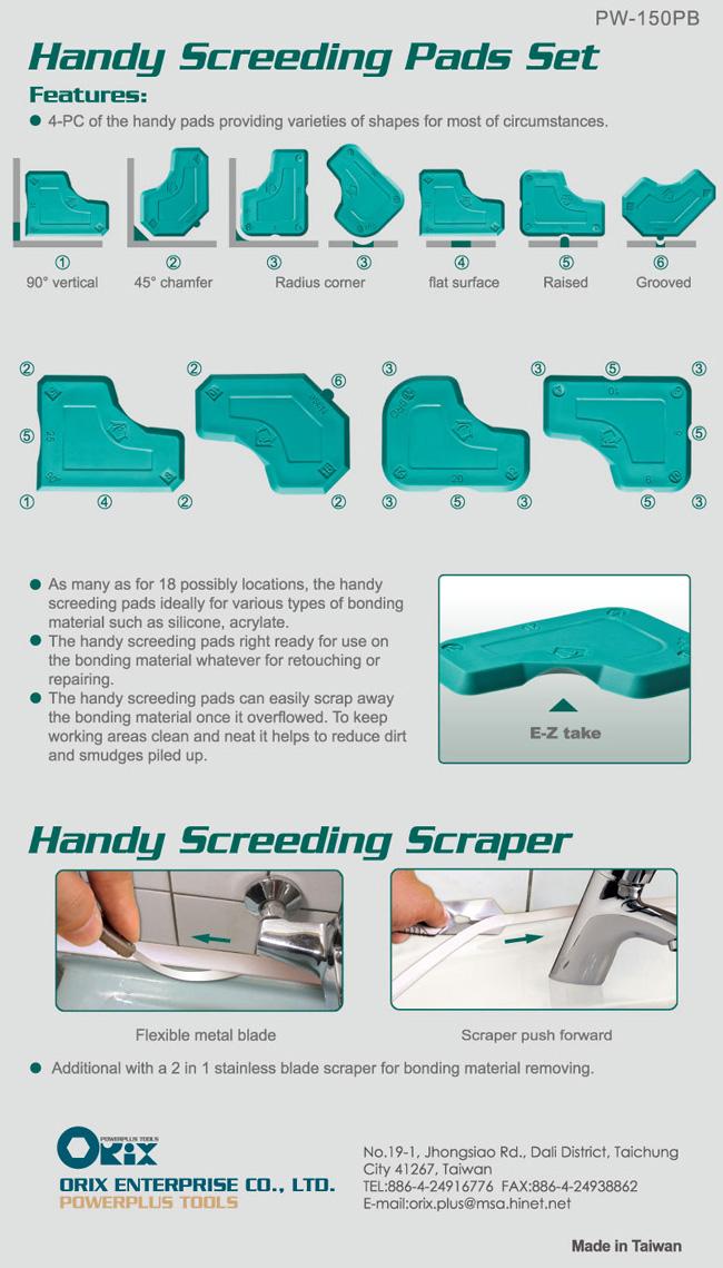Handy Screeding Pads Set