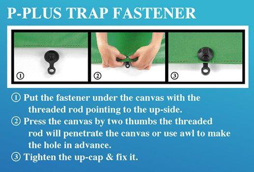 4PC P-plus Tarp Fastener