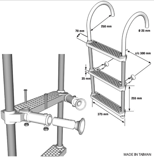 Aluminium Ladder (Plastic 3 Steps)