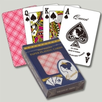 Paper playing cards with plastic coated
