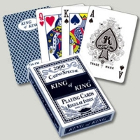 High quality embossed paper playing cards with plastic coated