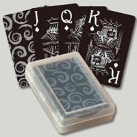 Black plastic playing cards