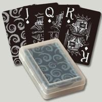 黑色塑膠撲克牌