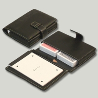 100% Plastic playing cards with PU organizer