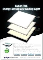 6060 超薄平面照明燈具