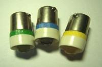 LED Light bulb, Miniature Bayonet Base , (Ba9s Bulb) on 1-LED display