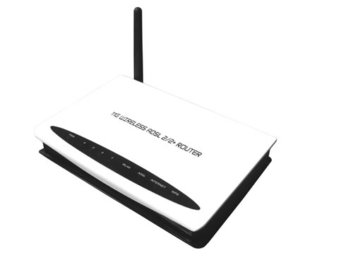 4 Ports 11g Wireless ADSL2/2+ Router