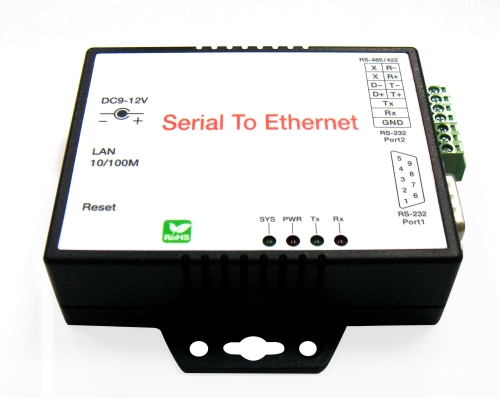 Ethernet to RS-232/422/485