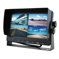 "7"" monitor built-in quad screen/touch screen"