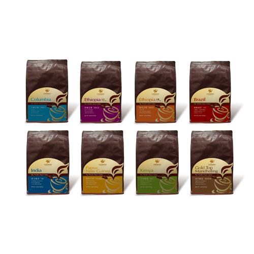 精選世界頂級莊園咖啡豆系列