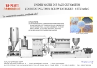 Cens.com Underwater system twin screw plastic pelletizing machine RE-PLAST EXTRUDER CORP.