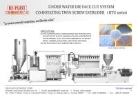 Underwater system twin screw plastic pelletizing machine