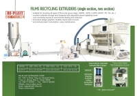 Cens.com Two section type pelletizing machine for film recycling RE-PLAST EXTRUDER CORP.