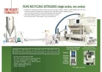 二段式薄膜類塑膠廢料回收造粒機