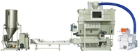 Standard type pellizing machine for clean film recycling