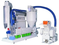 Die face cut pelletizer for clean film recycling