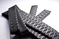 Non-slip decorative pattern heat shrinkable tubing