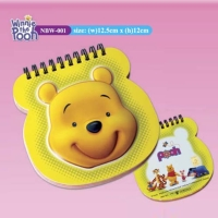 Raised Relief Notebooks (Winnie the Pooh)