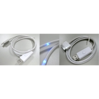 USB cable with led flow indicator