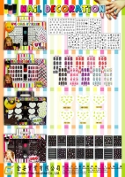 Nail polish and sticker kit