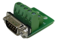 DB9 Male Connector for Field Termination