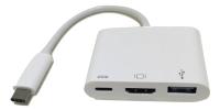 3.1C M to 3.1C F&HDMI F&USB 3.0 F