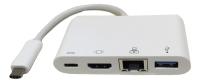 3.1C M to 3.1C F&HDMI F&RJ45 F&USB 3.0 F