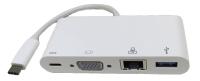 3.1C M to 3.1C F&VGA F&RJ45 F&USB 3.0 F