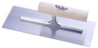 抹泥刀(圆木柄/尖齿/高碳钢刀片)