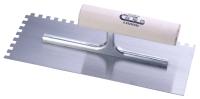 抹泥刀(圆木柄/方齿/高碳钢刀片)