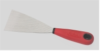 PUTTY KNIFE(STRAIGHT EDGE TRIANGLE BLADE/FLEX. & PLASTIC HANDLE)