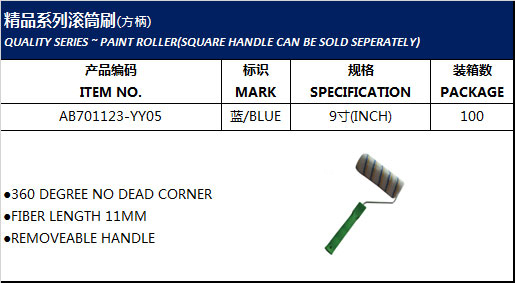 QUALITY SERIES ~ PAINT ROLLER(SQUARE HANDLE CAN BE SOLD SEPERATELY)