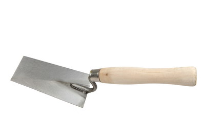 BRICK TROWELS(CARBON STEEL WITH TRAPEZOID BLADE & WOOD HANDLE )