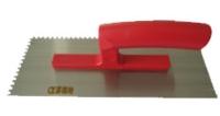抹泥刀(一体成型塑料柄/高碳钢刀片/方齒)